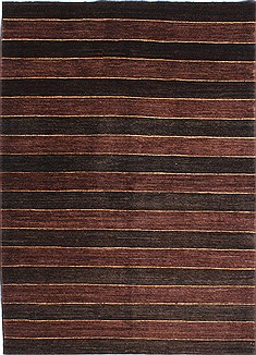 "Gabbeh Black Hand Knotted 4'8"" X 6'5""  Area Rug 254-29990"