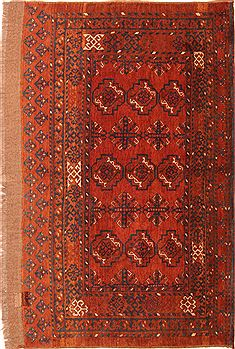 "Turkman Brown Hand Knotted 3'3"" X 5'5""  Area Rug 100-30009"
