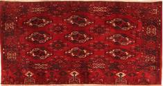 "Turkman Red Hand Knotted 2'6"" X 5'5""  Area Rug 100-30014"