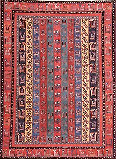 Persian Gabbeh Multicolor Rectangle 7x10 ft Wool Carpet 30027