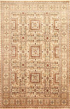 "Bakhtiar Brown Hand Knotted 6'1"" X 9'5""  Area Rug 254-30029"