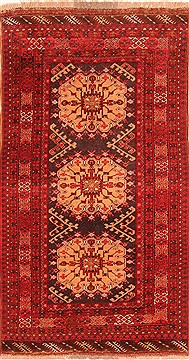 "Kizalayak Red Hand Knotted 3'4"" X 6'2""  Area Rug 100-30124"