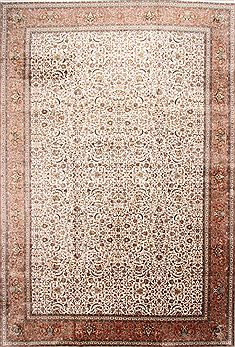 Indian Kashmir Beige Rectangle 12x18 ft Wool Carpet 30126