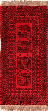 Afghan Bokhara Red Rectangle 3x5 ft Wool Carpet 30133