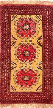 "Kizalayak Red Hand Knotted 3'6"" X 6'5""  Area Rug 100-30134"