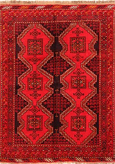 "Kelardasht Red Hand Knotted 4'11"" X 6'9""  Area Rug 100-30139"