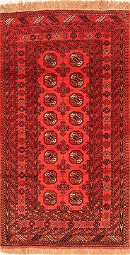 Afghan Bokhara Red Rectangle 4x6 ft Wool Carpet 30141