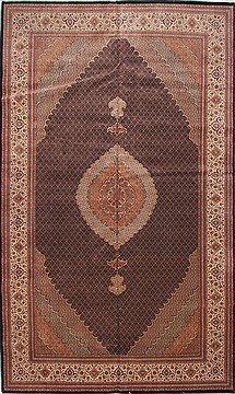 "Mahi Brown Hand Knotted 9'10"" X 16'7""  Area Rug 254-30150"
