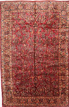 "Sarouk Beige Hand Knotted 10'2"" X 15'8""  Area Rug 254-30156"