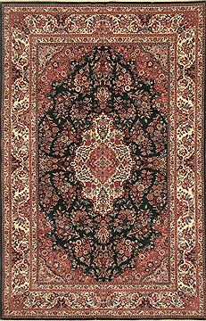 Chinese Kashan Beige Rectangle 6x9 ft Wool Carpet 30198