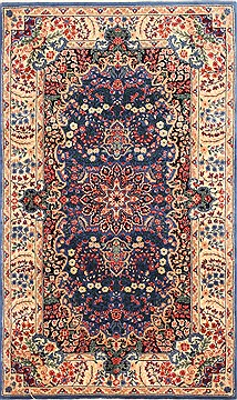 Chinese Kerman Red Rectangle 3x5 ft Wool Carpet 30203