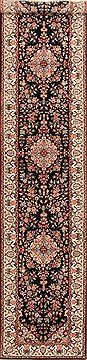 "Qum Red Runner Hand Knotted 2'7"" X 12'0""  Area Rug 255-30206"