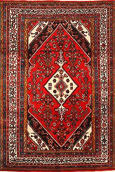 Persian Heriz Red Rectangle 7x10 ft Wool Carpet 30219