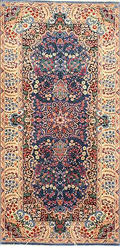Chinese Kerman Red Rectangle 3x5 ft Wool Carpet 30220