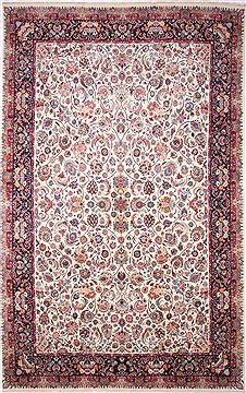 Persian Mashad Green Rectangle 13x20 ft and Larger Wool Carpet 30228