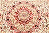 Tabriz Beige Square Hand Knotted 130 X 138  Area Rug 254-30232 Thumb 2