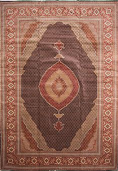Persian Mahi Brown Rectangle 13x20 ft and Larger Wool Carpet 30235