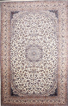 "Nain White Hand Knotted 13'5"" X 20'11""  Area Rug 254-30238"