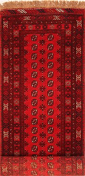 Afghan Bokhara Red Runner 6 to 9 ft Wool Carpet 30248