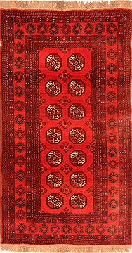 Afghan Bokhara Red Rectangle 3x5 ft Wool Carpet 30250