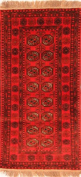 Afghan Bokhara Red Rectangle 4x6 ft Wool Carpet 30252