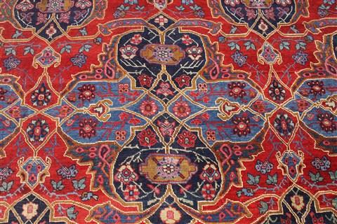 Persian Heriz Blue Rectangle 10x14 Ft Wool Carpet 30272