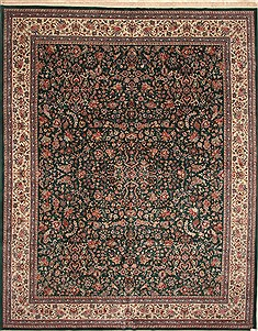 "Kashan Beige Hand Knotted 11'7"" X 15'0""  Area Rug 255-30309"