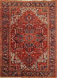 "Heriz Red Hand Knotted 8'8"" X 11'10""  Area Rug 255-30311"