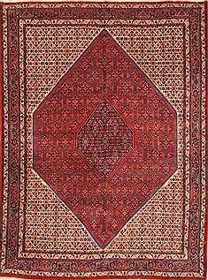 "Bidjar Red Hand Knotted 8'4"" X 11'0""  Area Rug 255-30312"