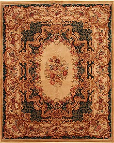 "Tapestry Beige Hand Knotted 8'0"" X 10'0""  Area Rug 255-30313"