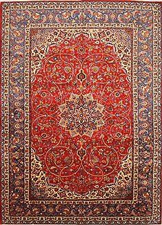 "Najaf-abad Red Hand Knotted 10'2"" X 15'0""  Area Rug 250-30371"