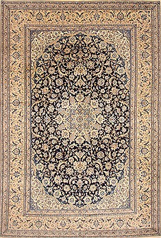 "Nain Beige Hand Knotted 10'3"" X 15'7""  Area Rug 255-30379"