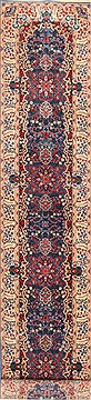"Kerman Red Runner Hand Knotted 2'6"" X 12'0""  Area Rug 255-30384"