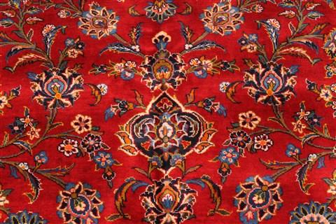 Persian Kashan Red Rectangle 11x16 Ft Wool Carpet 30393