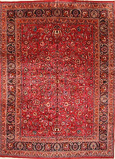 Persian Mashad Beige Rectangle 11x16 ft Wool Carpet 30440