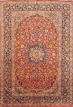 "Najaf-abad Red Hand Knotted 9'9"" X 14'5""  Area Rug 250-30457"