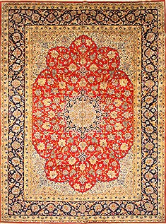 "Najaf-abad Red Hand Knotted 12'4"" X 16'8""  Area Rug 250-30460"