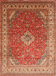 Persian Hamedan Beige Rectangle 10x14 ft Wool Carpet 30467