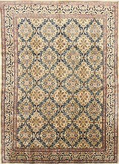 Persian Mood Blue Rectangle 9x13 ft Wool Carpet 30470