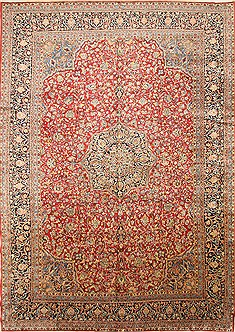 Persian Mahal Blue Rectangle 12x18 ft Wool Carpet 30480