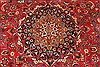 Khorasan Red Square Hand Knotted 118 X 131  Area Rug 250-30496 Thumb 1