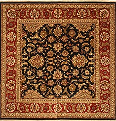 "Agra Beige Square Hand Knotted 12'1"" X 12'1""  Area Rug 250-30500"