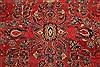Sarouk Red Hand Knotted 112 X 165  Area Rug 250-30501 Thumb 7