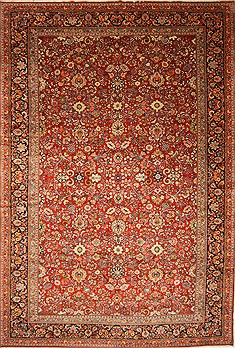 "Mashad Red Hand Knotted 13'8"" X 20'5""  Area Rug 250-30506"
