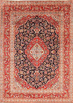 "Kashan Red Hand Knotted 8'0"" X 11'3""  Area Rug 255-30514"