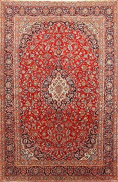 "Kashan Red Hand Knotted 8'0"" X 12'0""  Area Rug 255-30515"