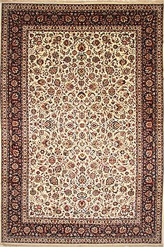 Persian Mashad Blue Rectangle 13x20 ft and Larger Wool Carpet 30526