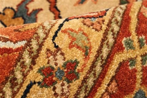 Indian Serapi Beige Rectangle 11x16 Ft Wool Carpet 30530