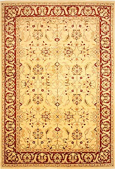 Pakistani Pishavar Beige Rectangle 12x18 ft Wool Carpet 30547