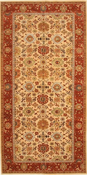 Indian Serapi Beige Rectangle 11x16 Ft Wool Carpet 30560